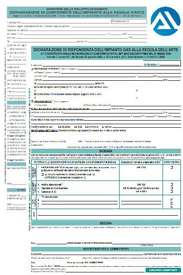 Dichiarazione di conformit mera sostituzione caldaia - Certificazione impianti casa ...