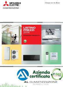 Listino prezzi Mitsubishi Electric 2014