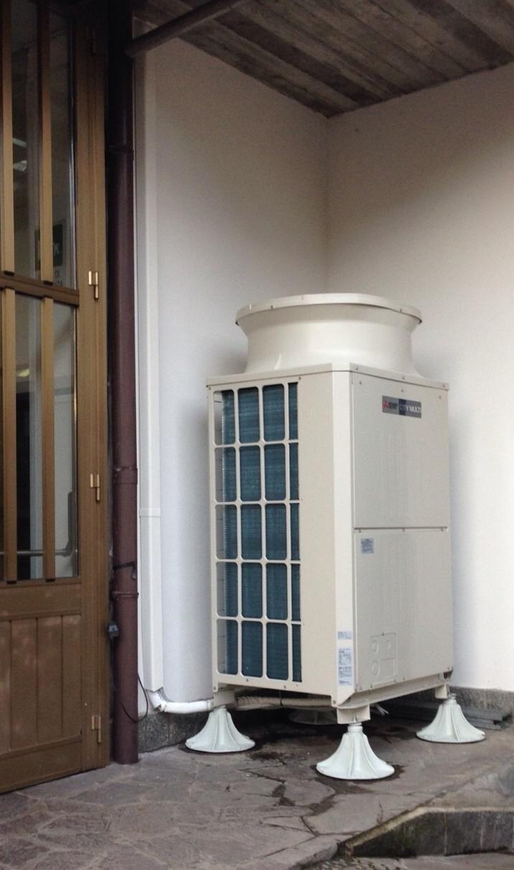 Sistema di climatizzazione ARIABOX con VRF Mitsubishi Electric.