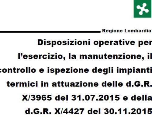 Disposizioni operative:esercizio,manutenzione, controllo e ispezione impianto termico