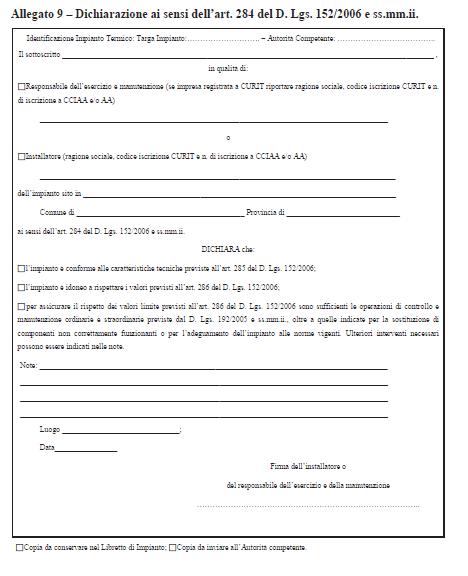 ALLEGATO 9 - Curit - Nuove disposizioni Impianti Termici