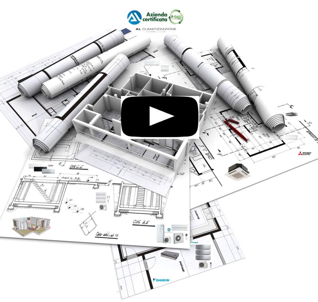 Impianto aria condizionata ALCLIMATIZZAZIONE