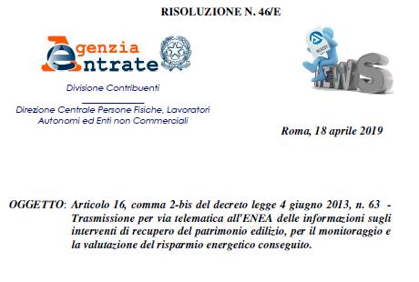 Mancato invio comunicazione ENEA 2018