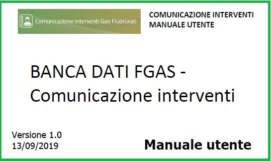 comunicazione FGAS Interventi manuale utente