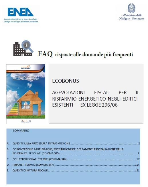 Faq ENEA ECOBONUS Modifica e annullamento pratica ENEA inviata