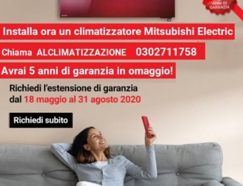 Estensione Garanzia Climatizzatori 5 anni Mitsubishi Electric