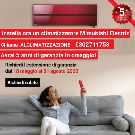 MSZ LN AP EF Estensione Garanzia Climatizzatori 5 anni Mitsubishi Electric